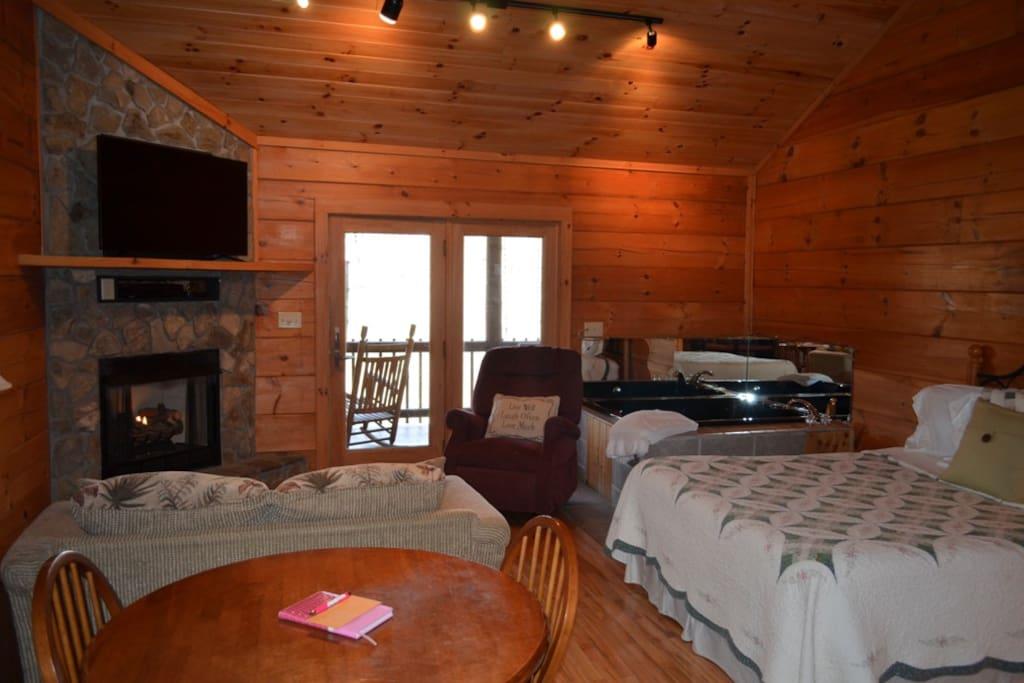 Living/bedroom area.