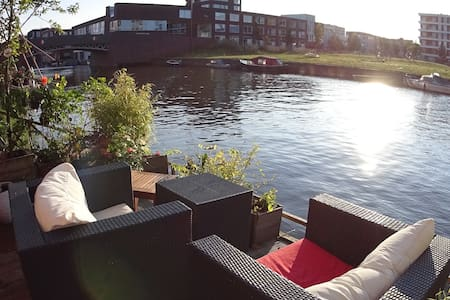 Luxurious house on the water with free parking - Haus