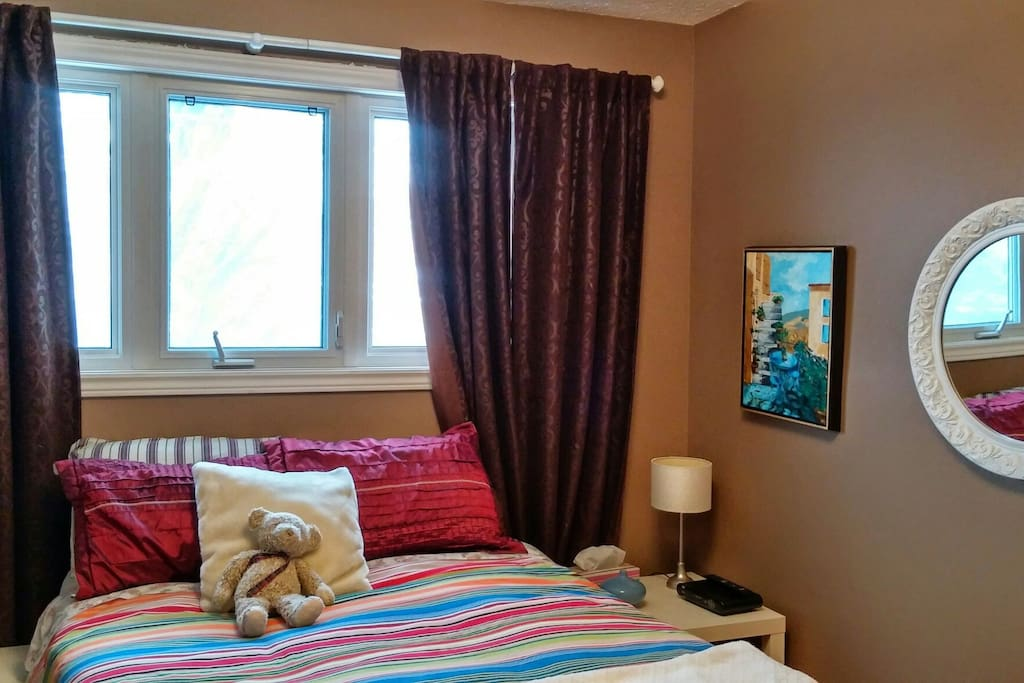 New double bed with mattress top (2015).