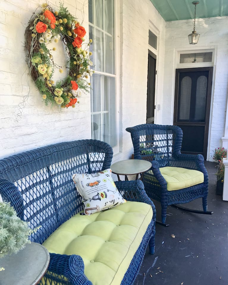 Your private side of the porch.