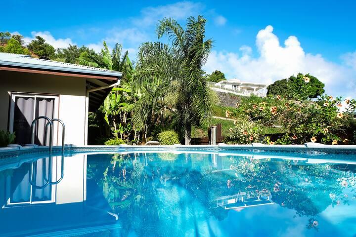 Chambre avec 1 lit simple,villa piscine, Papeete - Papeete - House
