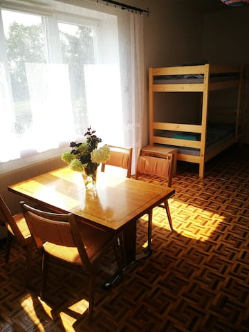 Guest room,  bright and spacious, work space, wardrobes, window shaders, extra blankets avaliable