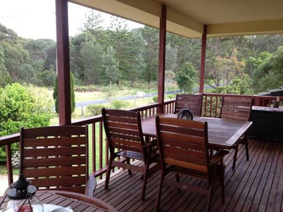 Verandah overlooking Jervis Bay National Park