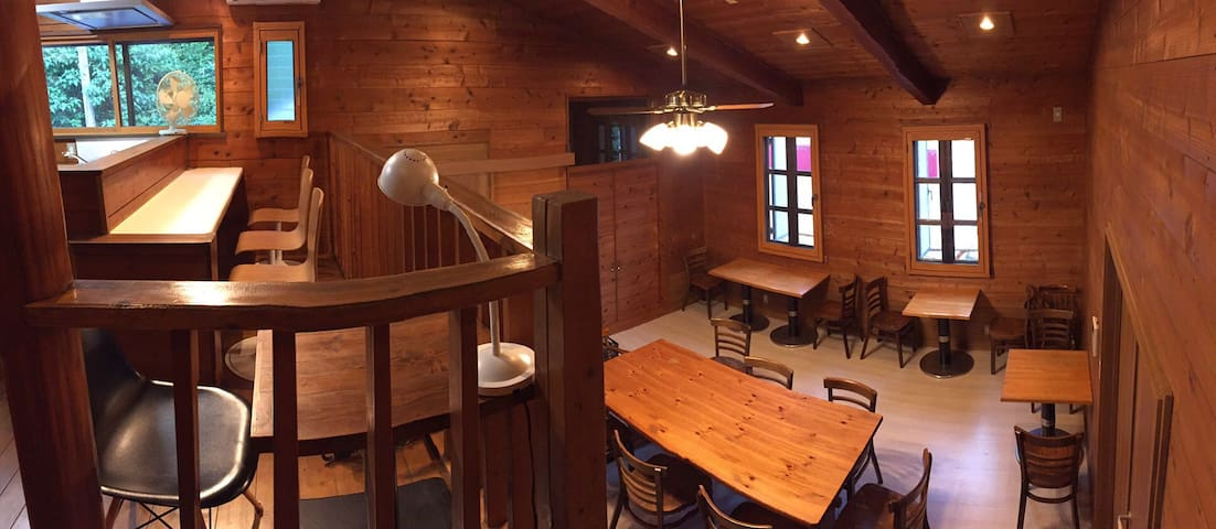 Real wood interior house like a log cabin.