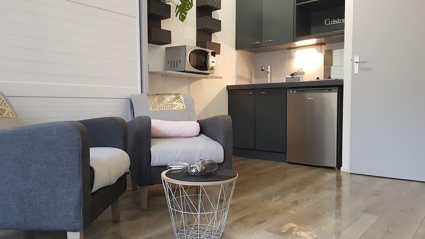 Pure détente - joli studio cabine + terrasse, Wifi