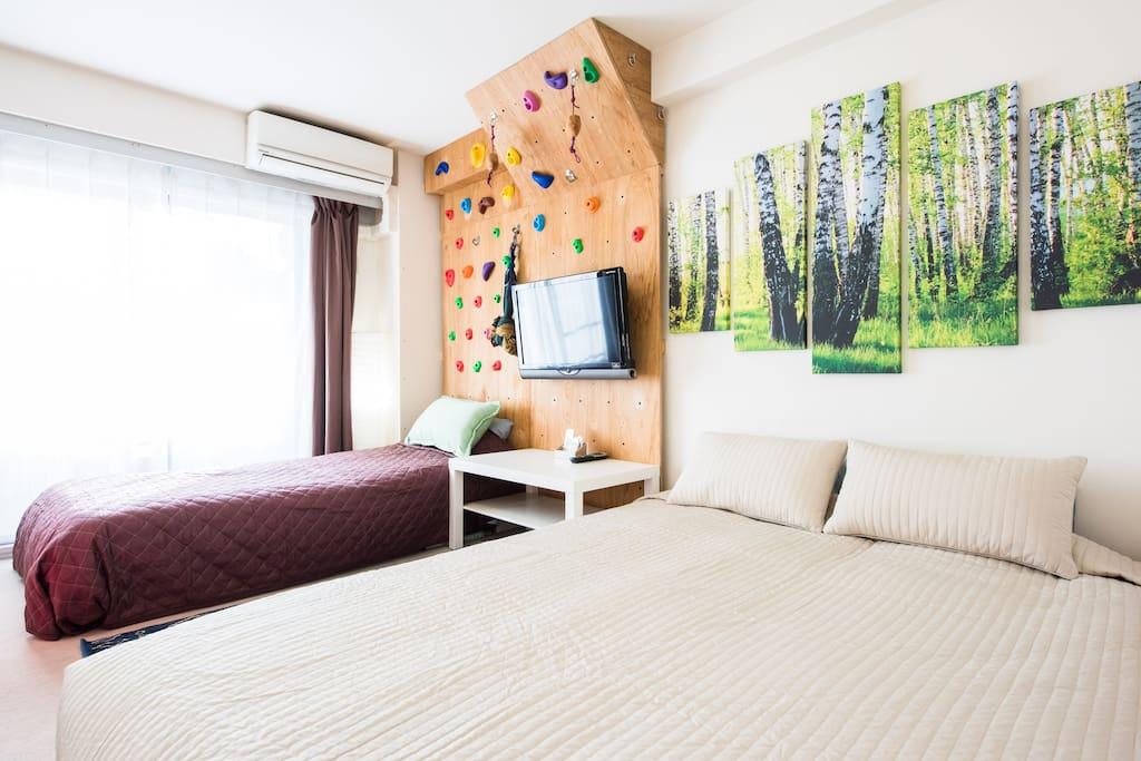 Comfortable beds, have a good dream. 舒适的大床,好梦。