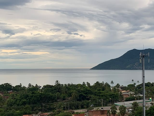 Chalé paradisíaco com vista pro mar!