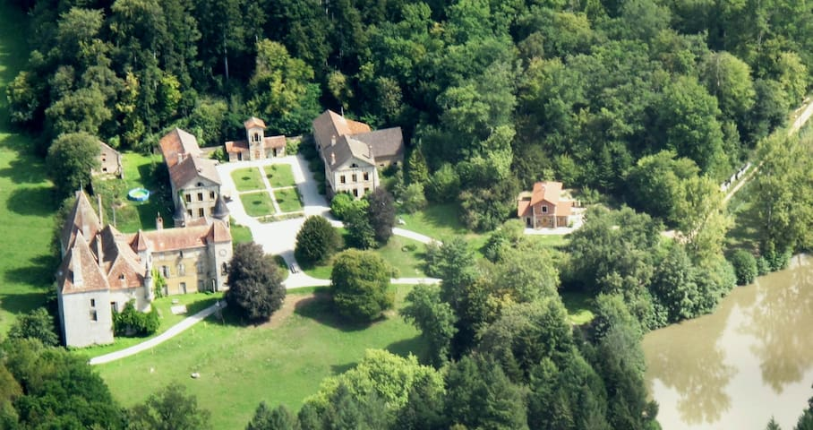 13ha estate  with midieval castle, near Beaune, P