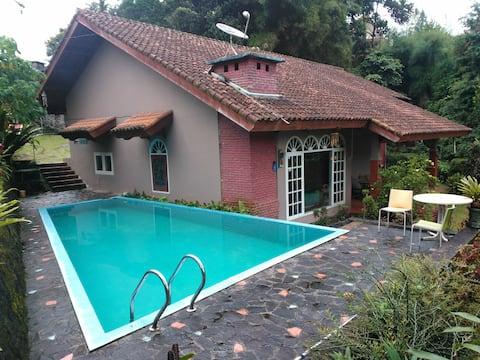 Family retreat near tea plantation for recreation.