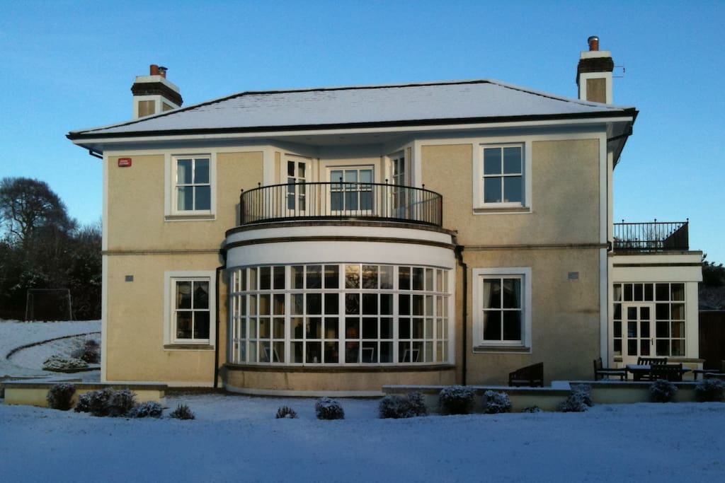 Our beautiful house in the snow!