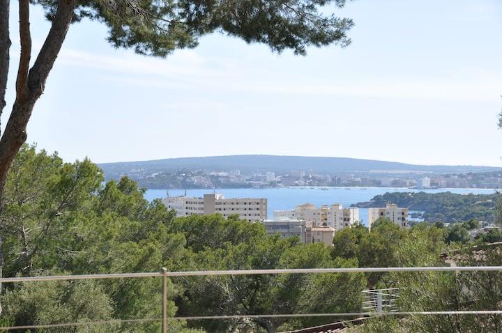 Vistas al mar en Portals Nous, muy cerca de Palma