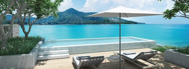 Beachfront luxury modern apartment🌞Infinity pool