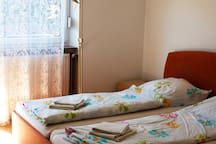 Zimmer im historischen Teil Saarbrückens