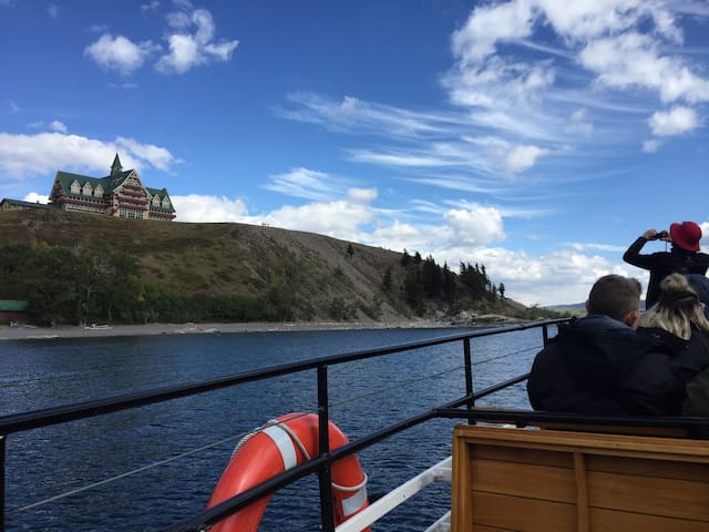 A day trip to the Canadian side of the International Peace Park will let you see the iconic Prince of Wales Hotel. Take the boat tour down Waterton Lake--the narration is fabulous.  Don't forget your Passport.