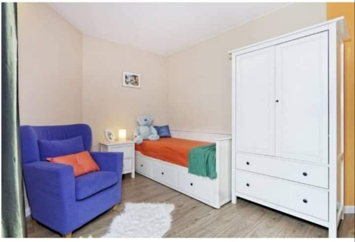 Cozy room with taras and garden