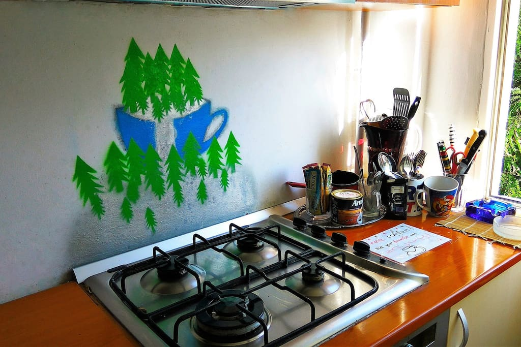 The kitchen :) Wall art by Georgiana