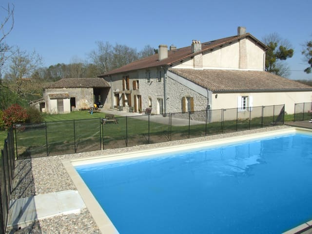 Gite in rural france, surrounded by vineyards.