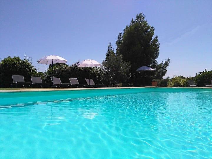 Perfect holidays,  in quiet village, heated pool