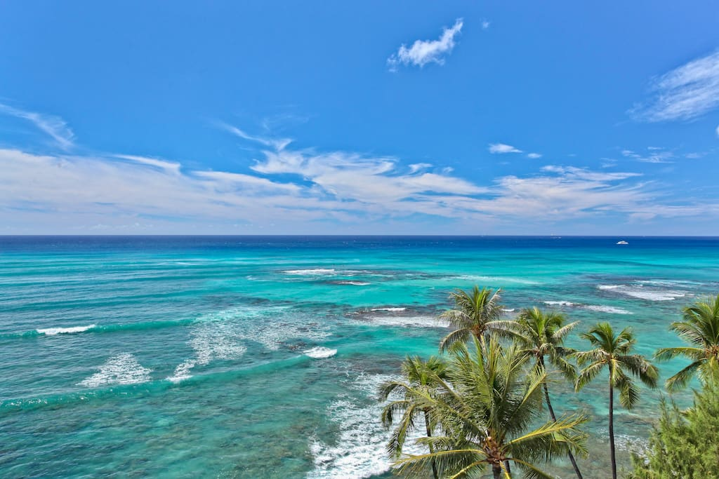 Watch the surfers, stand up paddlers, outrigger canoes and sailboats