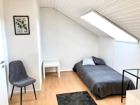 Light & Clean Attic Flat in Nice Residential Area