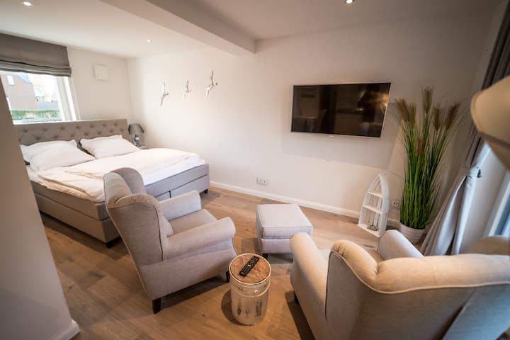 modern, luxurious apartment near the beach