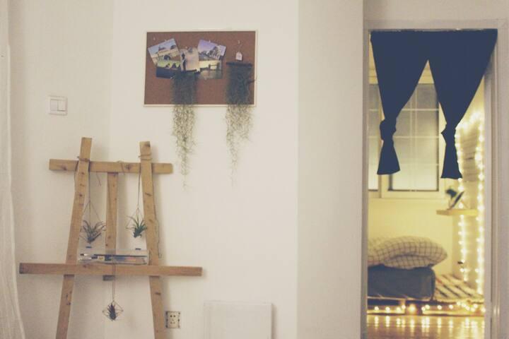 【1807】太古里精致二居室/双地铁/观景阳台/大投影(2号房间) - 成都 - Apartment