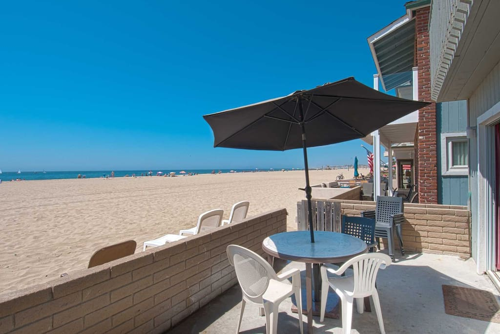 Patio & view to the beach