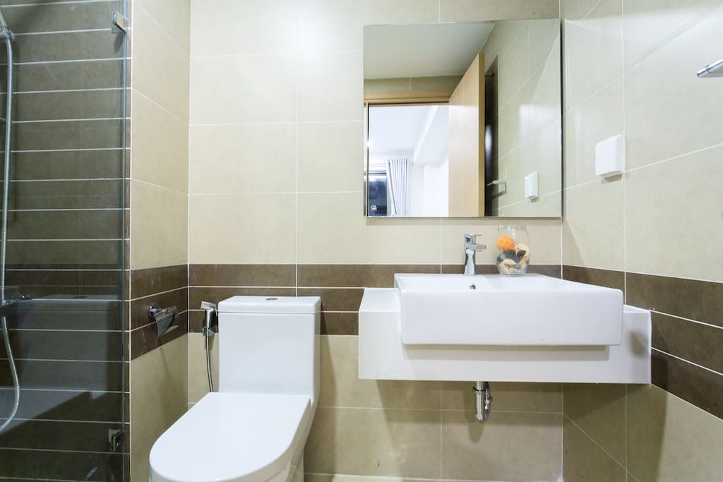 bathroom with fully equipped and clean