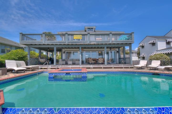 OPEN WEEK of JULY 11:  Osprey Nest, Luxury Oceanfront Home in Myrtle Beach with Great Views and Beautiful Pool Area