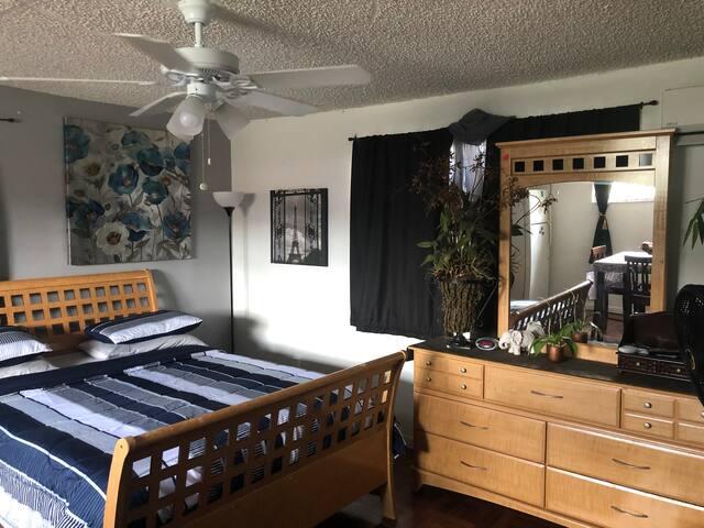Large spacious clean quiet room.