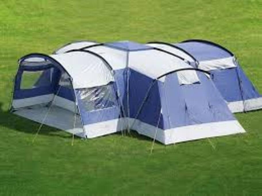 External view of tent