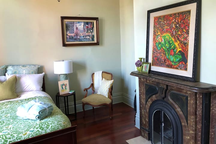 Spacious Bright Room in Victorian - Walk to Town