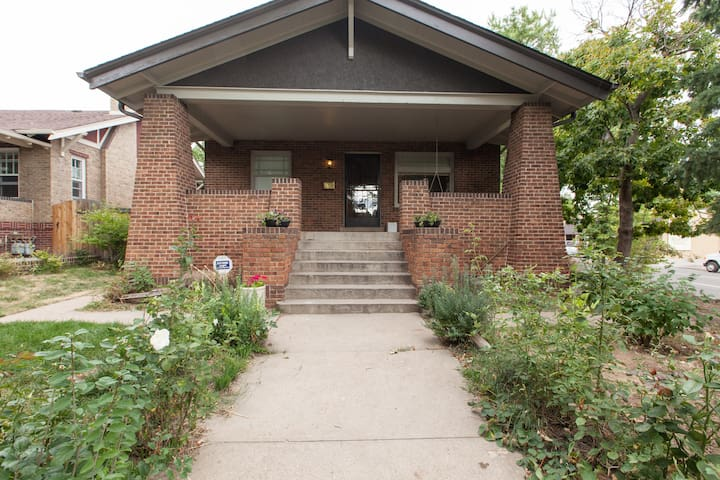 Garden apartment in beautiful brick bungalow on tree lined street.
