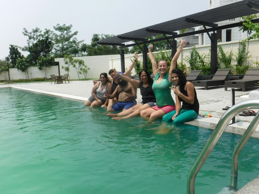 Celebrating Sunday in the Club's Swimming Pool