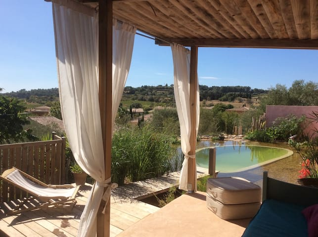 Garden apartment with natural Pool - Pézenas - Wohnung