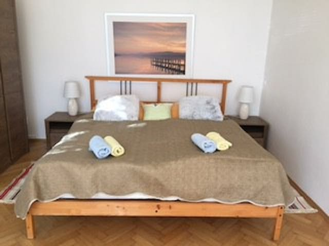 Comfortable large room south and west view for 1-2