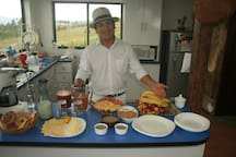 Sara Lodge offers a free continental breakfast with the option for additional hot items at an additional charge.