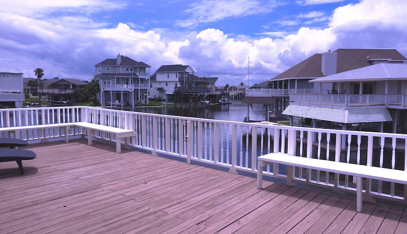 Water Front Canal Home Sleeps 14 with Kayak/Bikes - Jamaica Beach - Casa