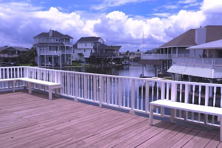 Water Front Canal Home Sleeps 14 with Kayak/Bikes - Jamaica Beach - Talo