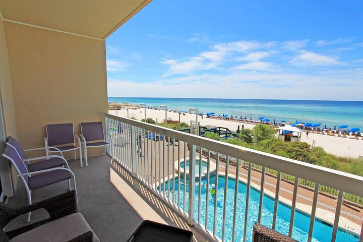 Beachfront for 6! *Open (PHONE NUMBER HIDDEN)BR-BeachSVC for 2 -Calypso 1-609 - Panama City Beach - Apartment