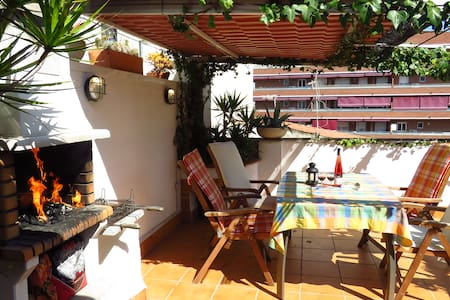 Penthouse Terrace & Grill, BCN Airport 5 km - Viladecans - Apartment