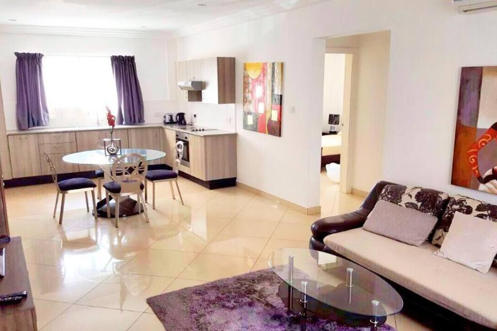 Nicely furnished 2 bedroom apartment east legon flats for Apartment plans in ghana