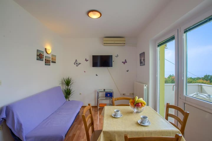 One bedroom apartment with balcony and sea view Kraljevica (A-17589-b)