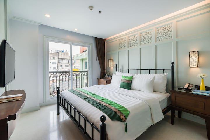 GreatDeal new modern w/service-Khao San-Dlux King