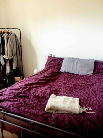 With a double bed