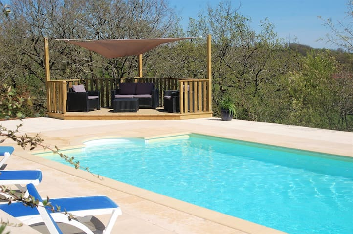 Beautiful French house with private pool. - Labastide-Murat - Villa