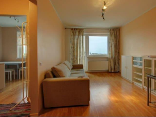 Clean, bright apartment.