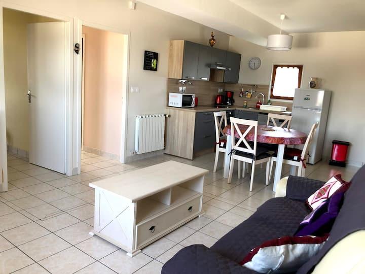 Crachier- Nord-Isère-Appartement F3 à la campagne.