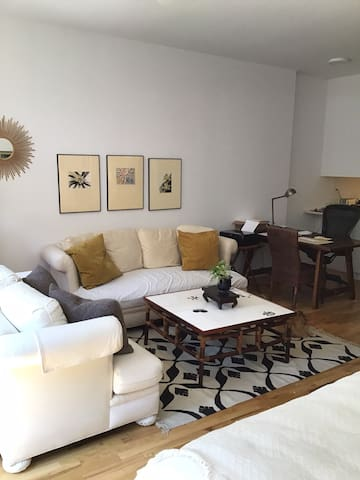 Shared Airy Sunny Jr Loft w Work Space InTownhouse