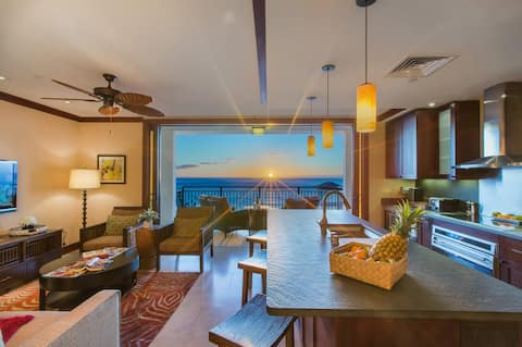 Luxury Top (16th) Floor Penthouse Ko Olina Beach Villa; Panoramic Ocean Views
